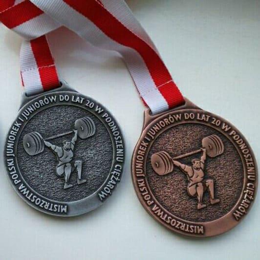 Nasze odlewane medale i statuetki na Mistrzostwa Polski w podnoszeniu ciężarów