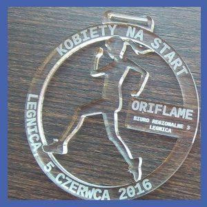 Medale z pleksi (przykładowe realizacje)