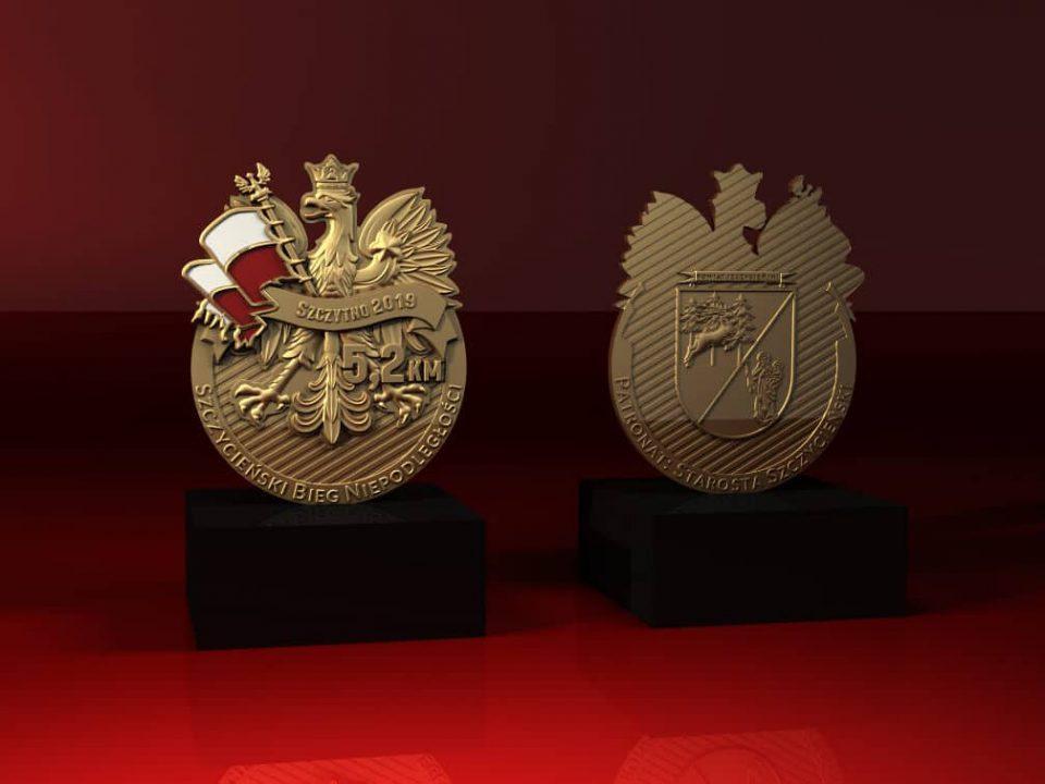 Szczytno - Szczycieński Bieg Niepodległości - statuetka z nadrukiem