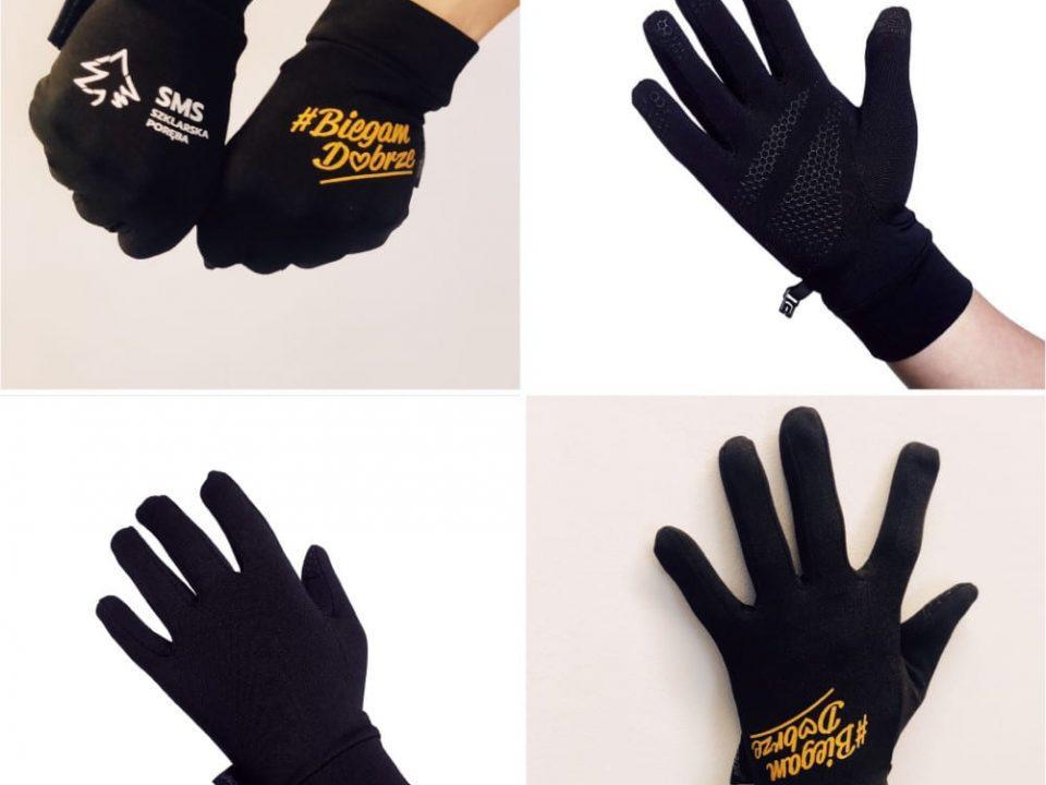 rękawiczki z własnym nadrukiem sportowe