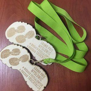 Medale z drewna (przykład)